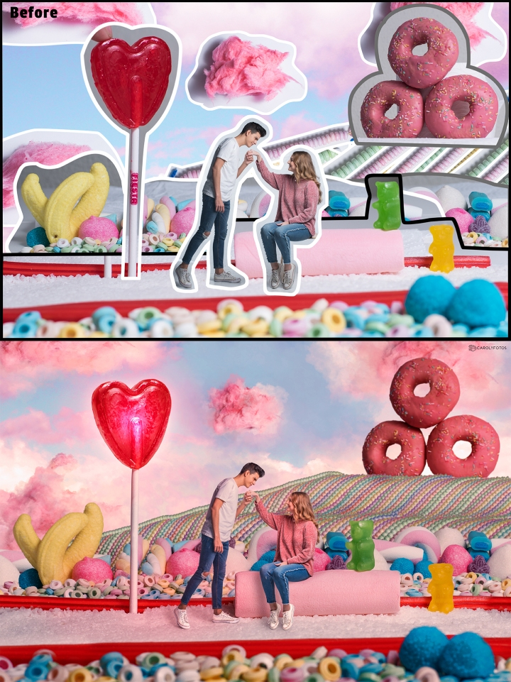 Before and after 'Candyland'