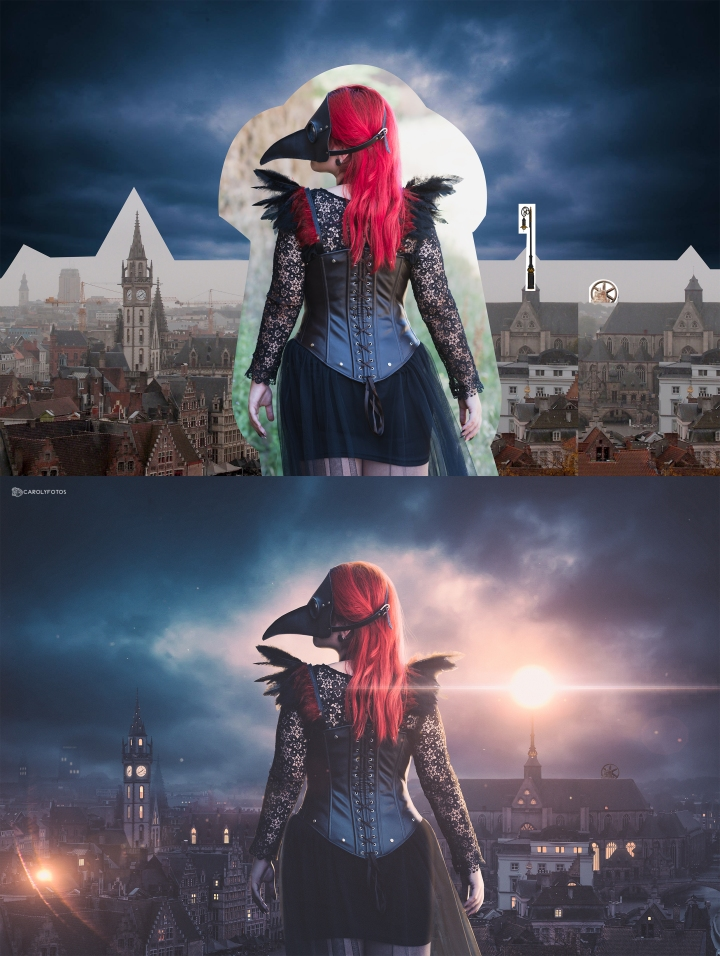 Before and after 'Raven is here'