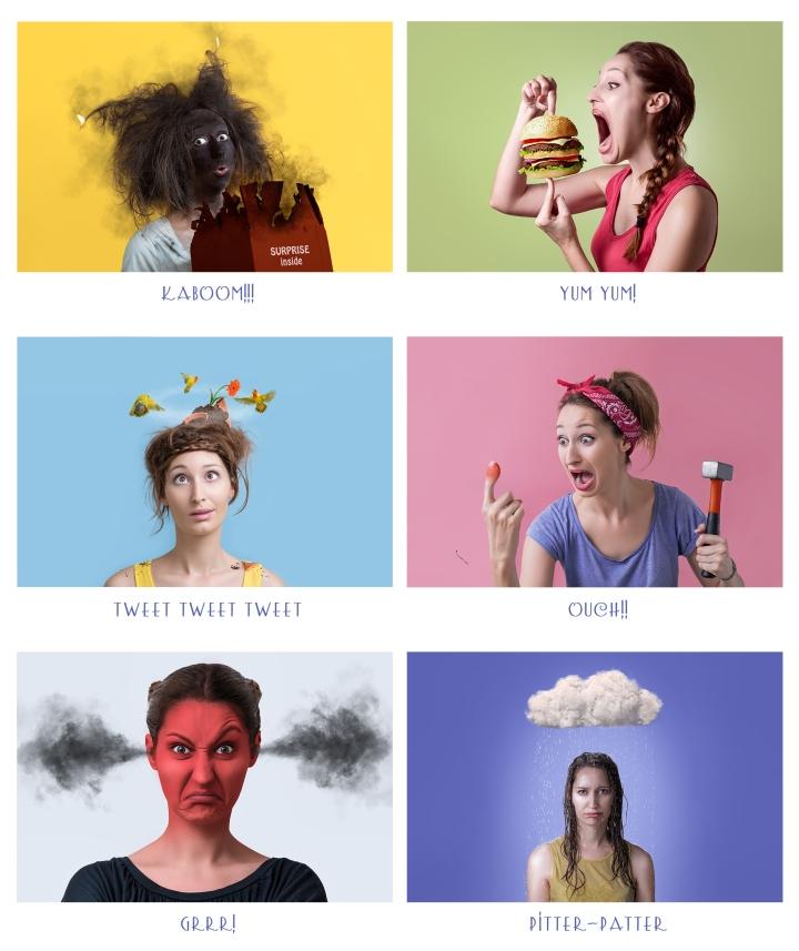 Serie Fotográfica CARTOONS (concepto, fotografía y retoque).